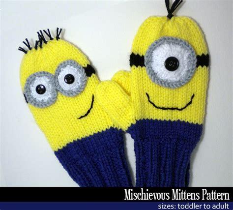 minion jumper knitting pattern mischievous minion mittens knitting pattern knitting