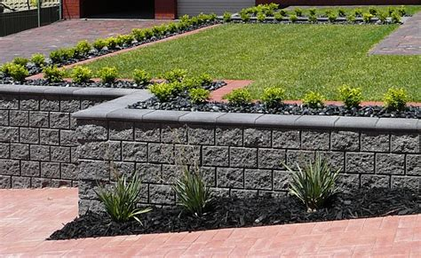 decorative concrete blocks for garden walls concrete block retaining walls adelaide design exles