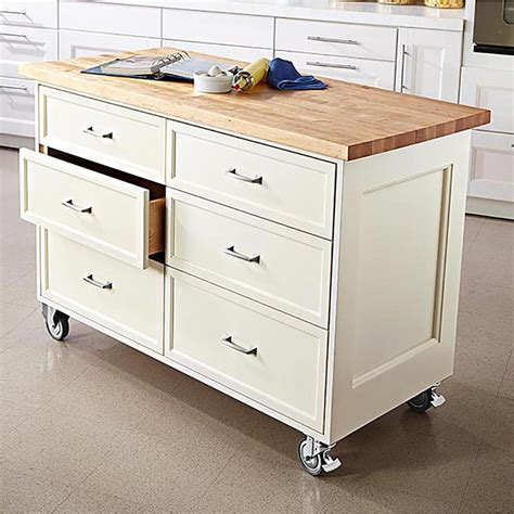 plans for kitchen islands rolling kitchen island woodworking plan from wood magazine