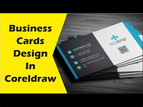 how to make visiting card how to make business cards design in coreldraw x6 tutorial