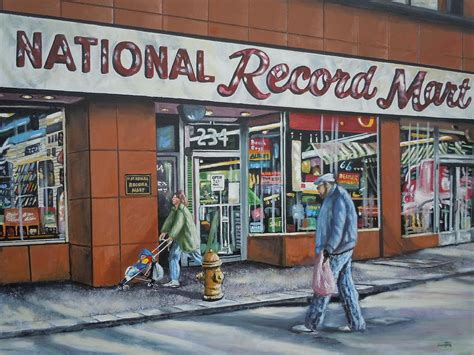 acrylic paint national bookstore national record mart painting by guentner