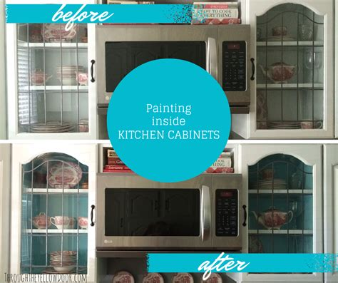 paint color inside kitchen cabinets through the yellow door kitchen cabinets project