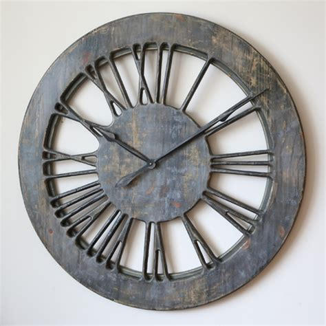 shabby chic large wall clocks 40 quot large handmade grey shabby chic wall clock