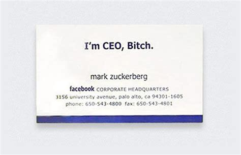 how to make a successful business card zuckerberg 25 awesome business cards from the world