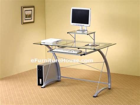 metal and glass computer desks glass and metal computer desk