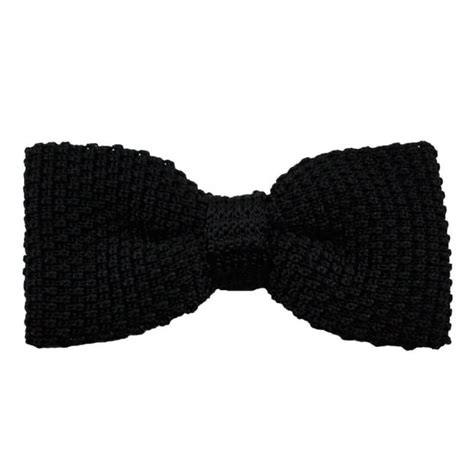 black knitted bow tie plain black silk knitted bow tie from ties planet uk