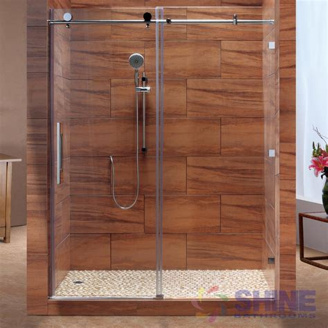 bathroom shower doors frameless sd frameless sliding shower door shine bathrooms