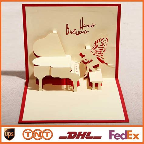 how to make handmade pop up greeting cards aliexpress buy diy greeting cards blue handmade