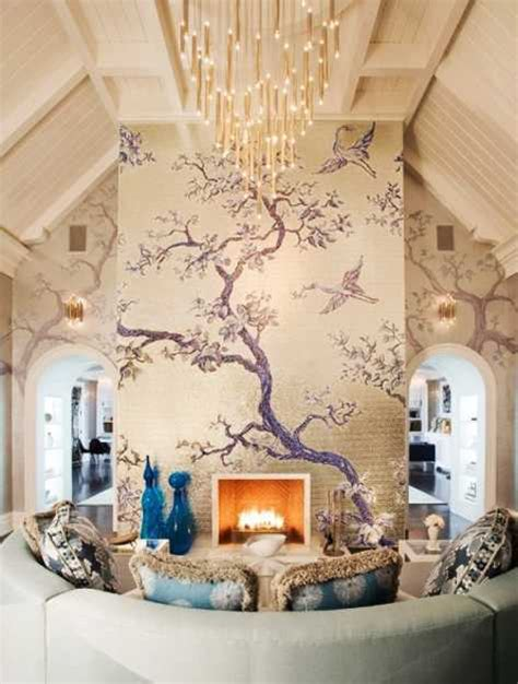 24 modern interior decorating ideas incorporating tree wall
