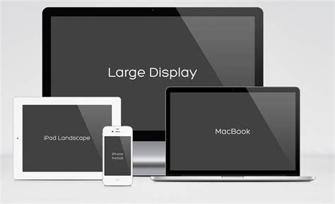 responsive design mock up pack freebies fribly