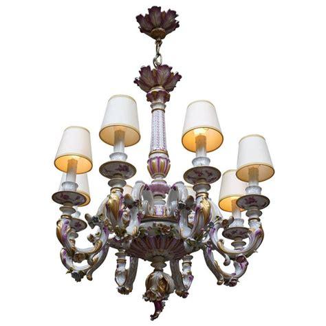 capodimonte porcelain chandelier capodimonte italian porcelain eight light chandelier for sale at 1stdibs