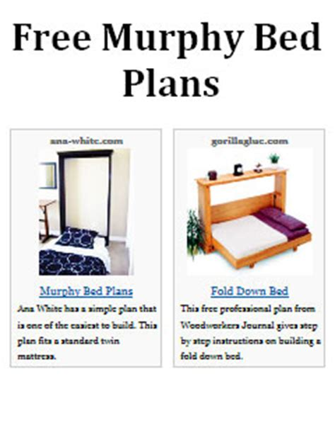 murphy bed woodworking plans pdf how to build a murphy bed free plans plans free