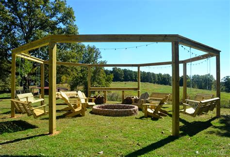 pergola with pit tutorial build an amazing diy pergola and firepit with