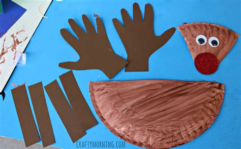 reindeer paper craft paper plate reindeer craft for crafty morning