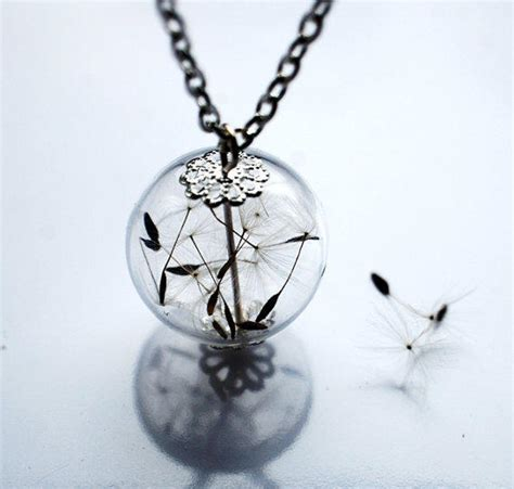 make a wish jewelry dandelion necklace make a wish 11 glass from