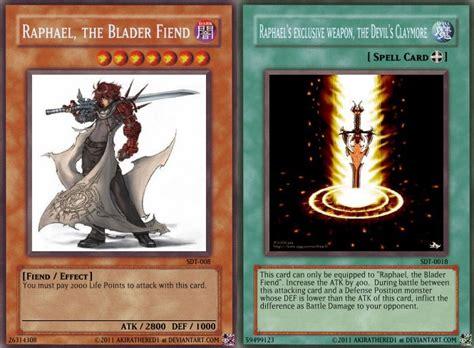 how to make a custom yugioh card yugioh custom cards raphael by akirathered1 on deviantart