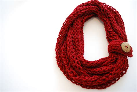knitted infinity scarf pattern finger knitting scarf pattern a knitting