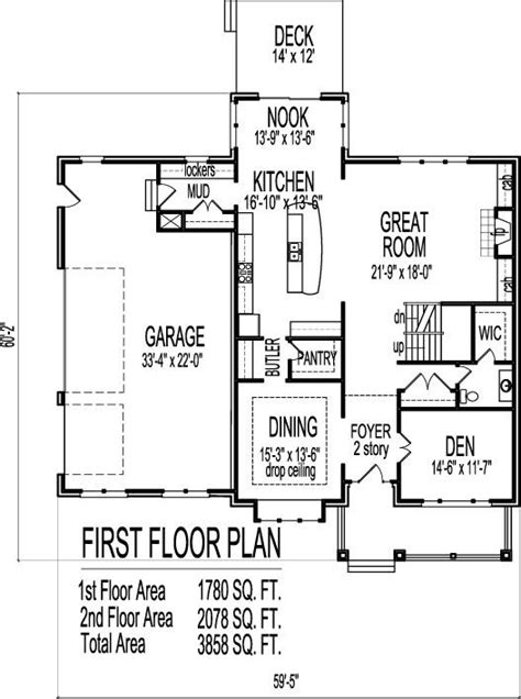 two story home plans with open floor plan new home plans design