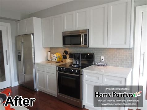 spray painting kitchen cabinets before and after repaint kitchen cabinets toronto roselawnlutheran
