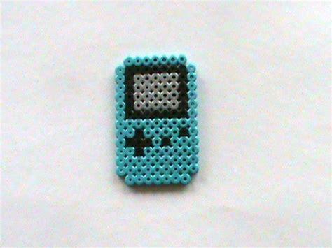 perler gameboy blue gameboy color perler bead sprite perler