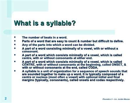 what does in ph3 introduction to the syllable
