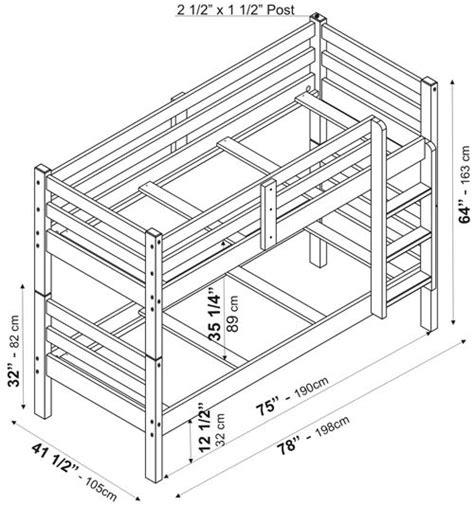 bunk bed mattress sizes arizona bunkbed by palace imports