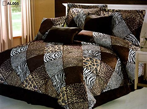 animal comforter set 7 pieces multi animal print comforter set king size