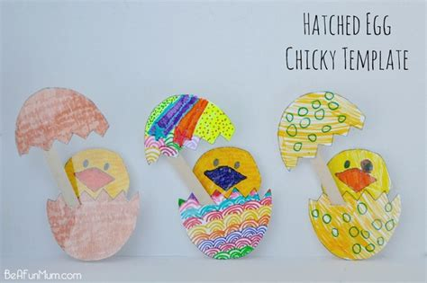 paper easter egg crafts easter craft hatched egg chicky template be a