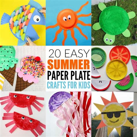 summer paper crafts for easy summer paper plate crafts for plates make great