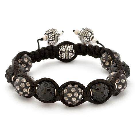 black bracelet shamballa bracelet with black in black gray