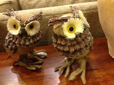 pinecone crafts for pine cone owl crafts ye craft ideas