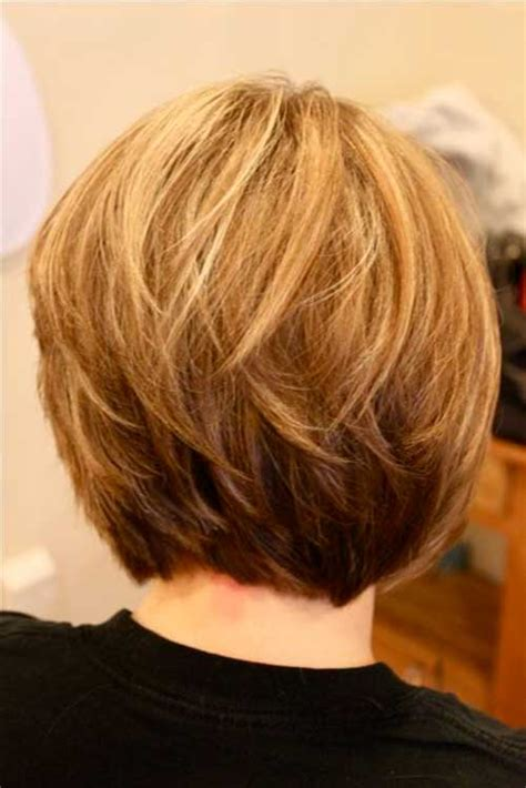 bob layered hairstyles front and back view short stacked bob hairstyles back view