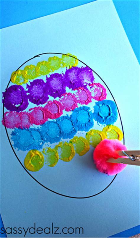 easter egg crafts for pom pom easter egg painting craft for crafty morning