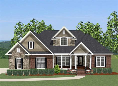 plans for homes 4 bed house plan with upstairs office 46230la architectural designs house plans