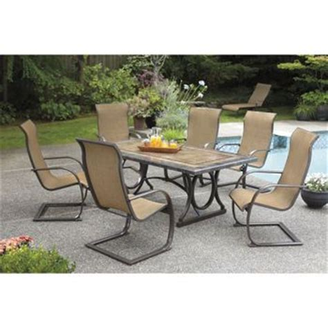 costco patio dining sets costco sling c 7 dining set porcelain table