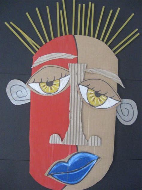 picasso paintings mask eric straw from st martha catholic school artists an