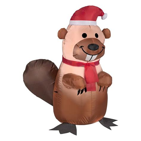 Mobile Home Bathroom Fan by Shop Gemmy 3 51 Ft Lighted Beaver Christmas Inflatable At