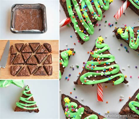 easy tree brownies