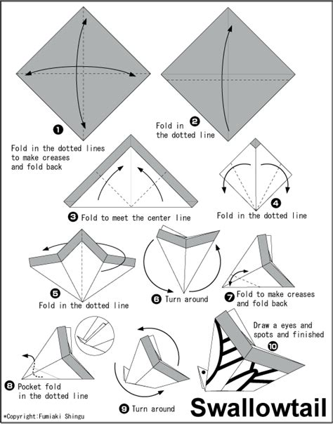origami butterfly swallowtail swallowtail easy origami for