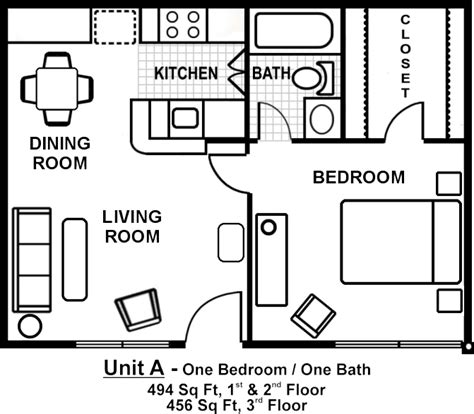 1 bedroom garage apartment floor plans small one bedroom apartment floor plans search gardens apartment floor