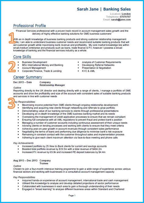perfect resume outline example of a good cv