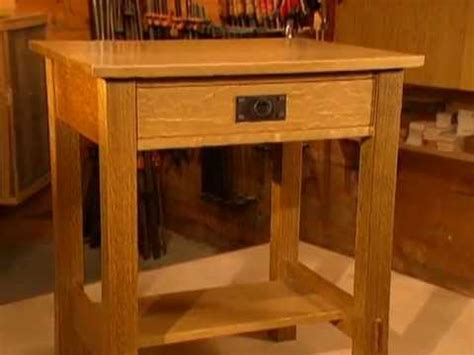 free nightstand woodworking plans woodworks episode 104 arts crafts inspired nightstand