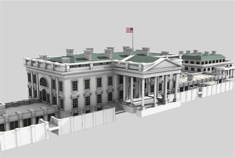 white house residence white house residence 3d model