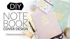 diy designs diy notebook cover design gold leaf designer look