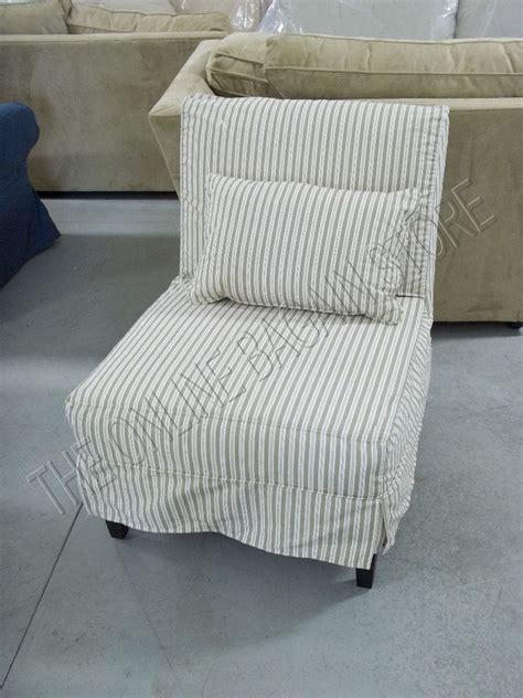 armless sofa slipcovers pottery barn armless slipcovered sofa accent chair