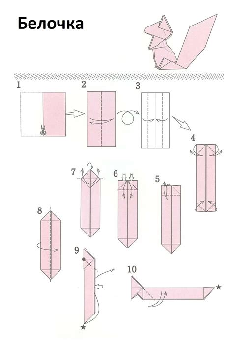origami squirrel diagram belochka1o origami animais e seres mitol 243 gicos