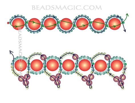 for beading free pattern for beaded necklace magic