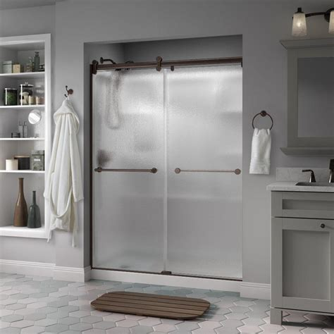 contemporary shower doors delta crestfield 60 in x 71 in semi frameless