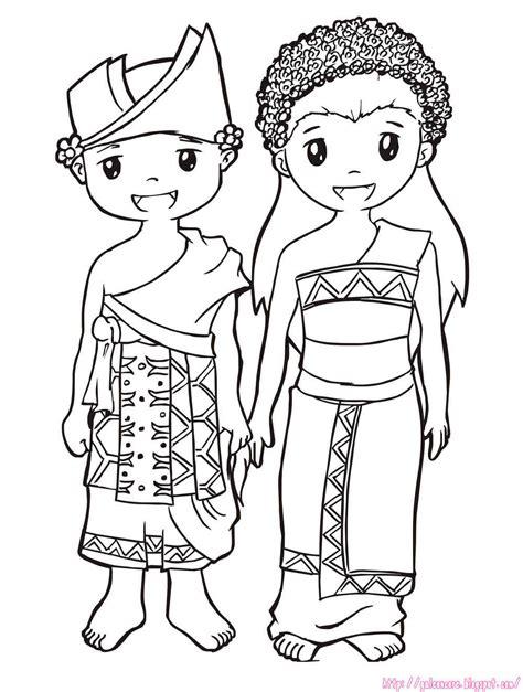 Gambar Sketsa Baju Adat  Images How To Draw Baju