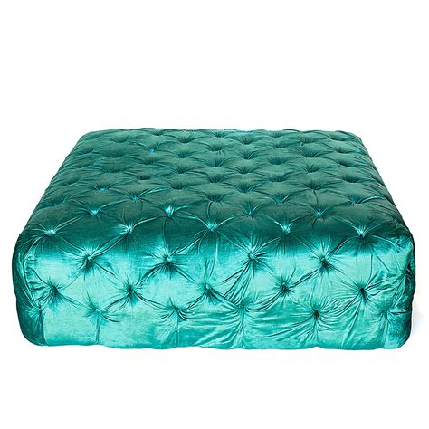 teal tufted ottoman tufted teal ottoman high style